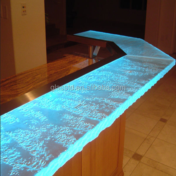 Luxury Led Lit Glass Countertops Acrylic Bar Counter Buy