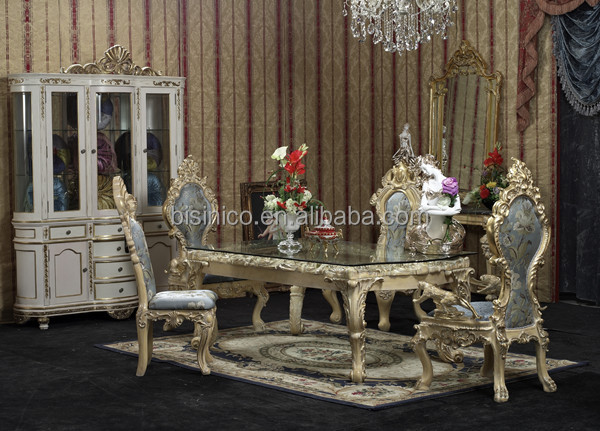 Deluxe palace dinning furniture exquisite wood carving - Sofas en vitoria ...