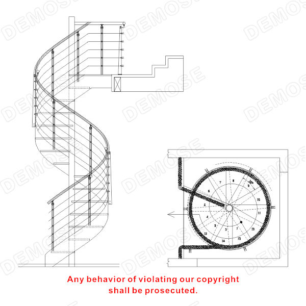Exterior Metal Spiral Stair Design Safety Spiral Stairs