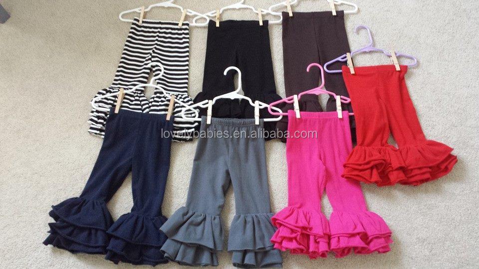 Multiple Colors Choose Baby Girl Leggings Super Soft Cotton Triple ...