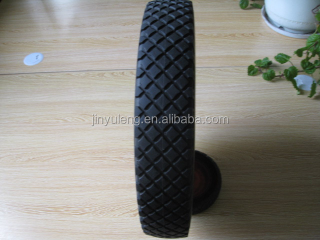 flags, square pattern 16 inches 4.00-8 pu solid rubber foam wheel ,wheelbarrow ,Farm machinery wheel,parts,accessories