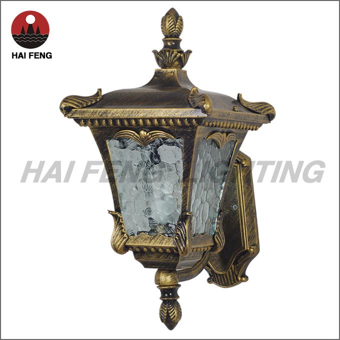 Vintage Exterior Wall Lamp / Brass Outdoor Wall Light