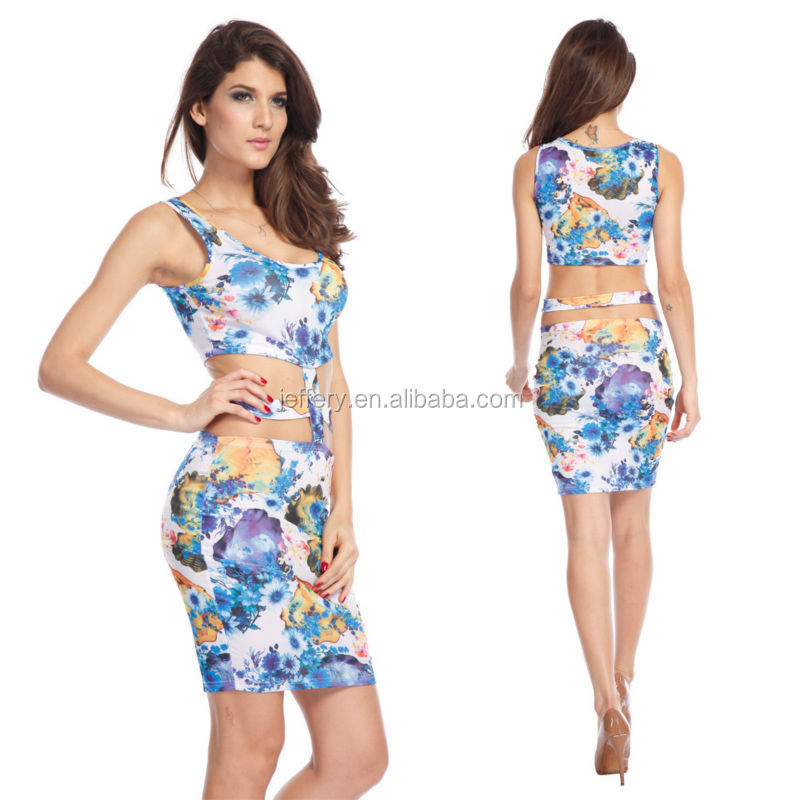 Wholesale Women club dress hot sexy dress club wear printed ...