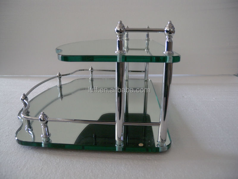 Perfect Metal Two-tier Vanity Tray With Rails Storage Mirror Trays - Buy  OK76