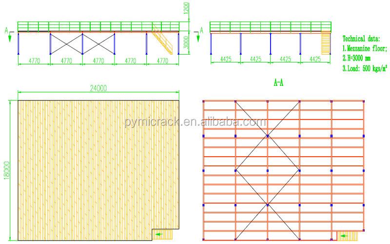 Pallet rack supported steel mezzanine floor buy steel for Mezzanine floor pdf