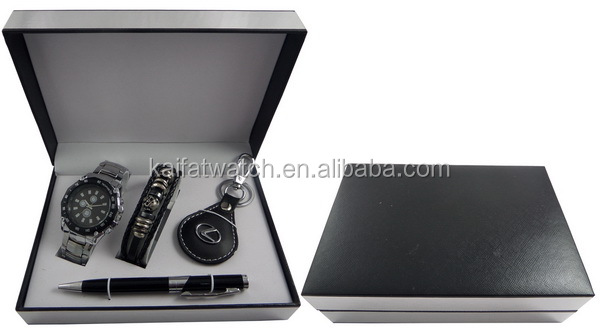 Wholesale Business Men Gift Set With Watch,Belt And Pen - Buy ...