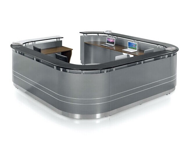 Information Desk Design custom made small salon curve information desk design - buy curve