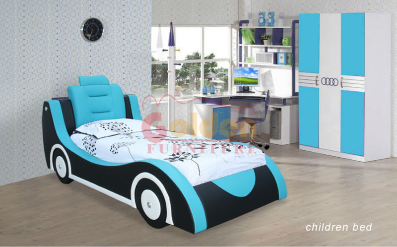 hot sale latest design children car shape bed