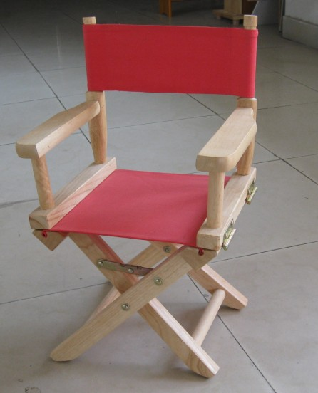 JiangLin Personalized Blue Canvas Kids Directors Chair Wooden Folding Kids  Director Chair