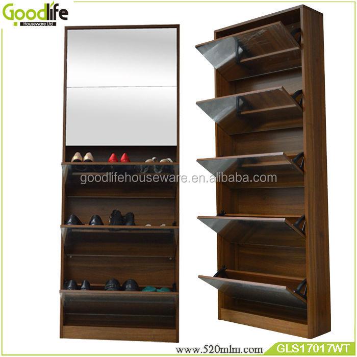 sliding door shoe cabinet vertical shoe rack GLS17017, View ...