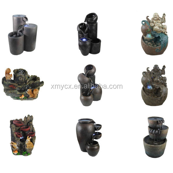 Wholesale Polyresin Tabletop Water Fountain With Buddha Statue