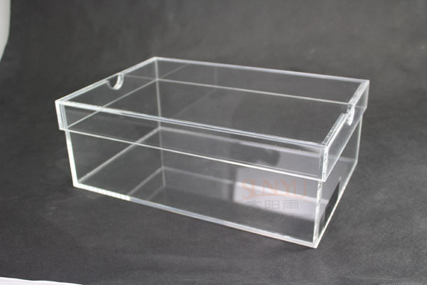 Acrylic Box Construction : Custom transparent acrylic shoes box with lid