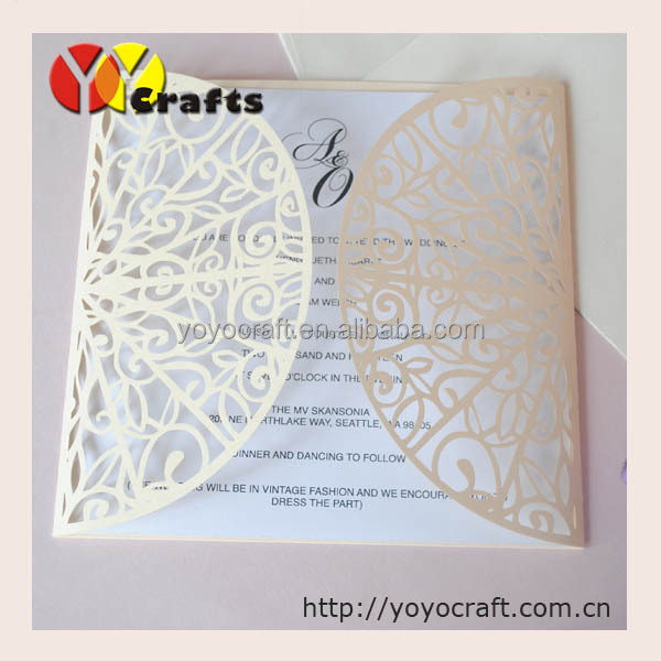New Latest Design Laser Cut Doors Lace Invitation Card Fashion ...