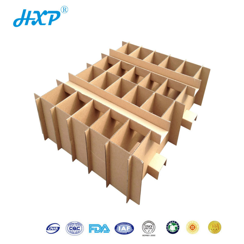 Paper box 3-Layer B-Flute Carton with Partition Assy