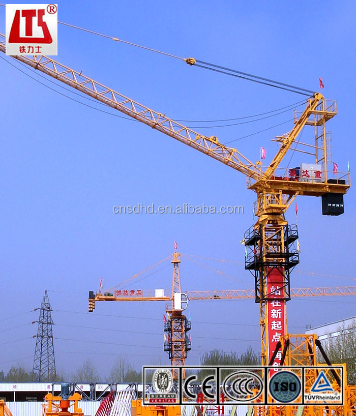luffing type tower crane with 50m boom
