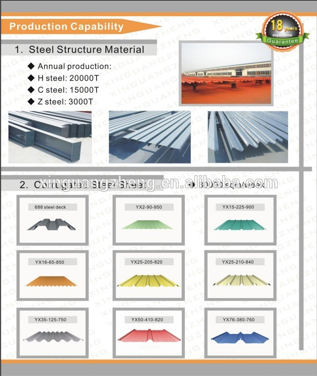 construction large span prefabricated steel structure isolation building