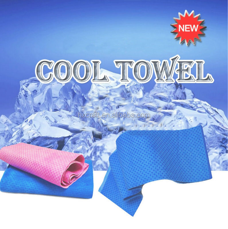 Multicolor 100*30cm Ice Towel Utility Enduring Instant Cooling Towel Heat Relief Reusable Chill Cool Towel