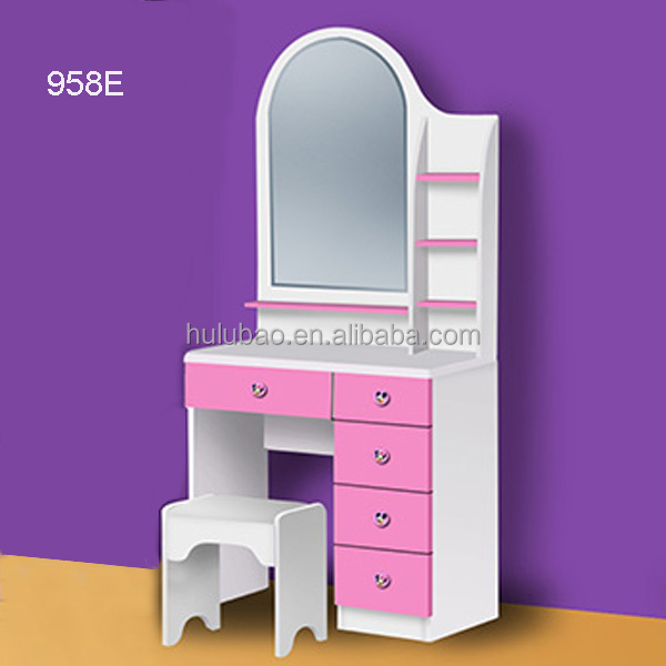 Bedroom Dresser / Wood Dressing Table with Mirror /Bedroom ...