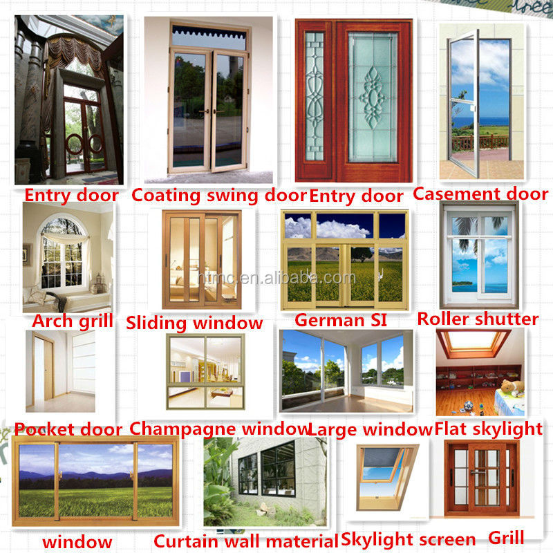 New House Design Aluminium Sliding Windows And Doors American