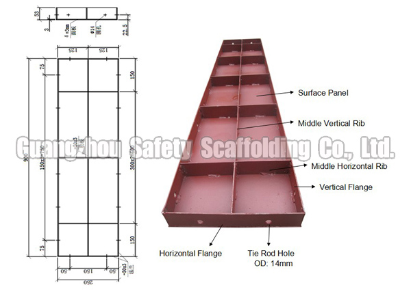 Steel Wall Form : Concrete formwork design steel for wall