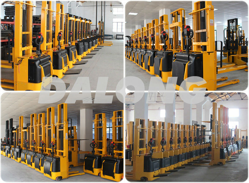 1500kg capacity , 5500mm lifting height Straddle Type Electric Stacker (1.5 ton, 5.5m)