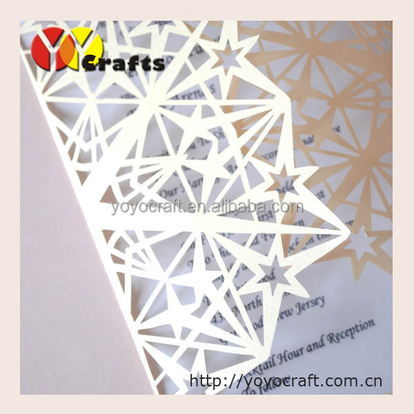 fancy wedding supplies laser cut lucky star handmade paper