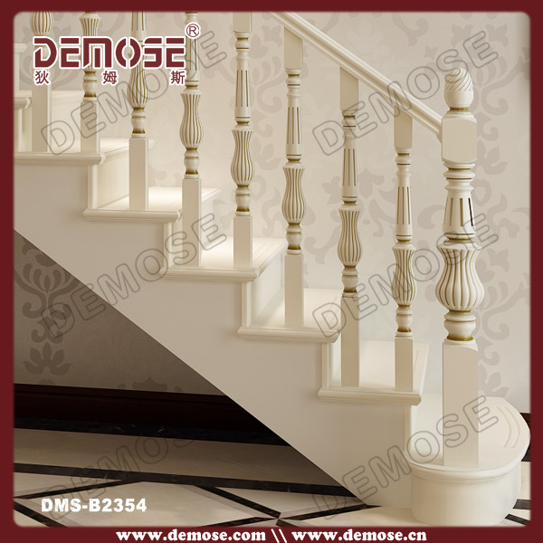 Indoor Round Wood Stair Railings For Sale