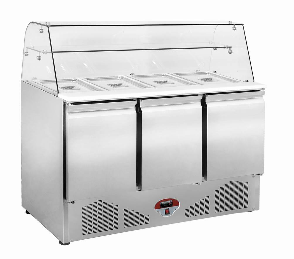 Stainless Steel Under Salad Counter Refrigerator Food