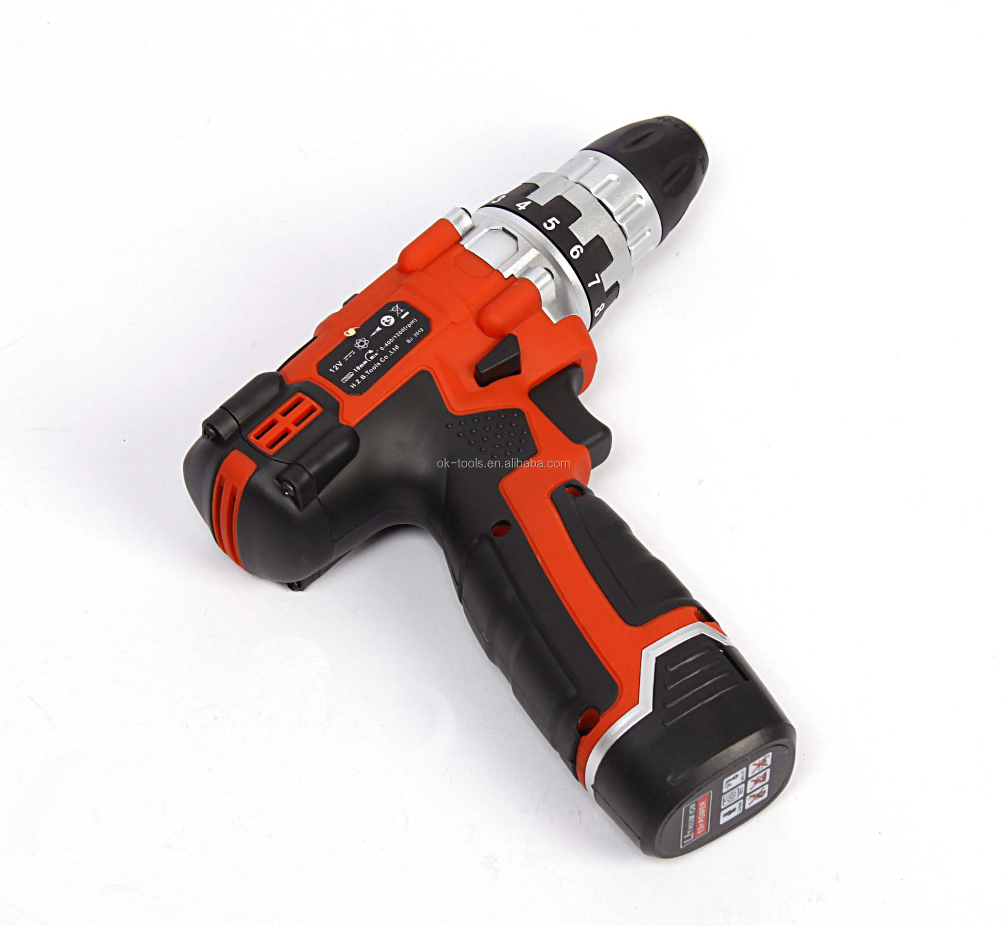 New 2014 Ok Tools 12v Li-ion Battery Cordless Drill Of Power Tool ...