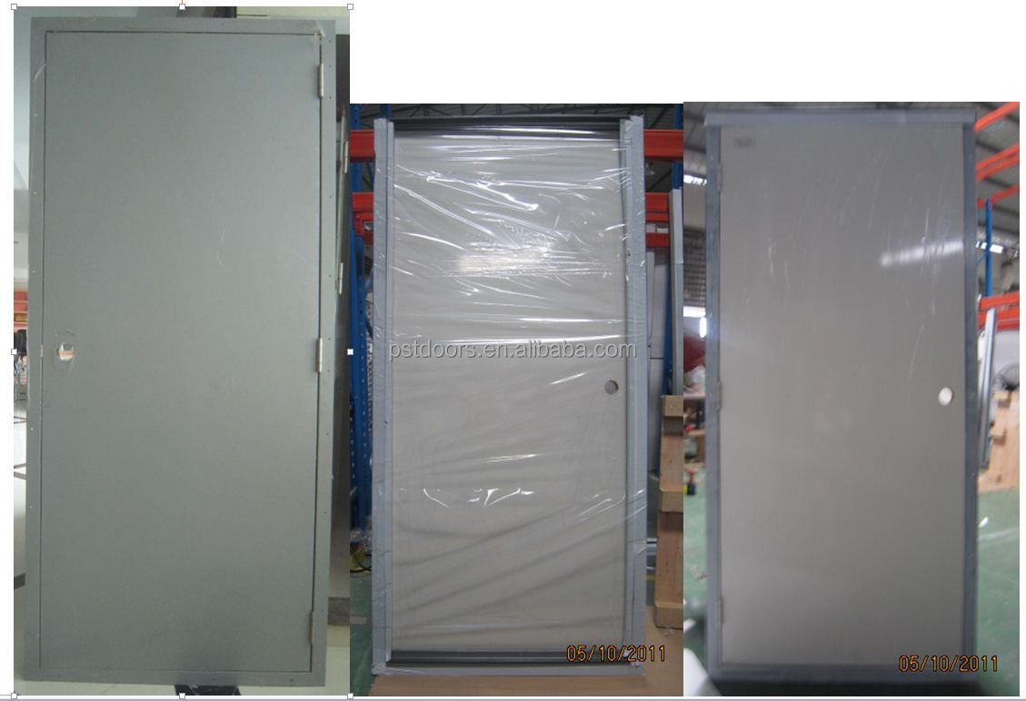 Hollow metal door 6 panel door metal door with konck down for 1 hour fire door specification