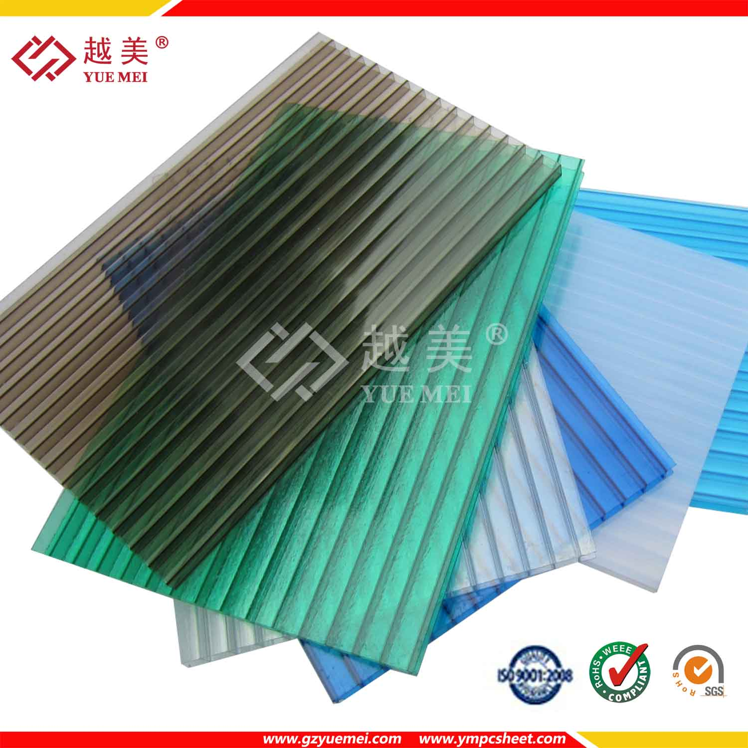 Good Transparent Pc Plastic Sheet Polycarbonate Twin Wall Hollow Sheet Roofing  Material