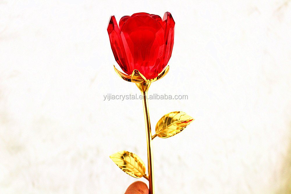 wholesale crystal glass rose for valentine 39 s day gifts