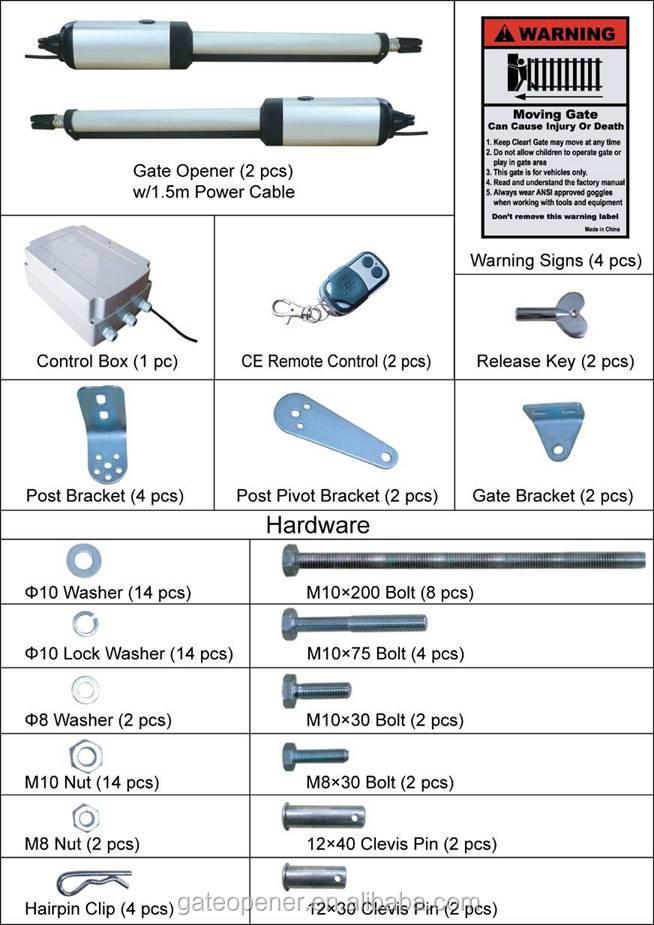 Manual Swing Gate Openers Remote Control Swing Gate