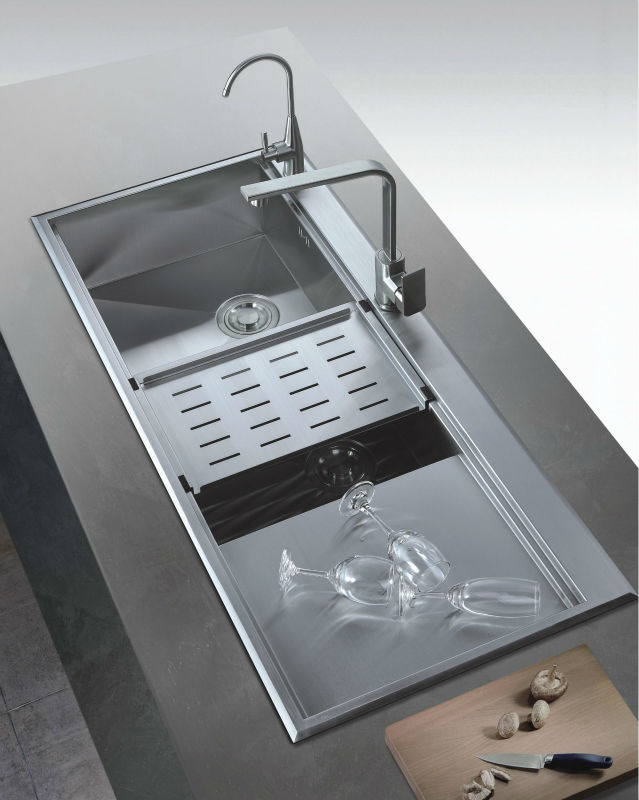 large kitchen sink with drainer large kitchen sinks stainless steel bowl sink with 8898