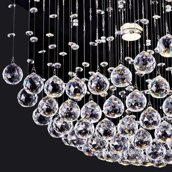 Modern Fashion Ceiling chandeliers Three Ball Crystal laser light lighting Model:5009