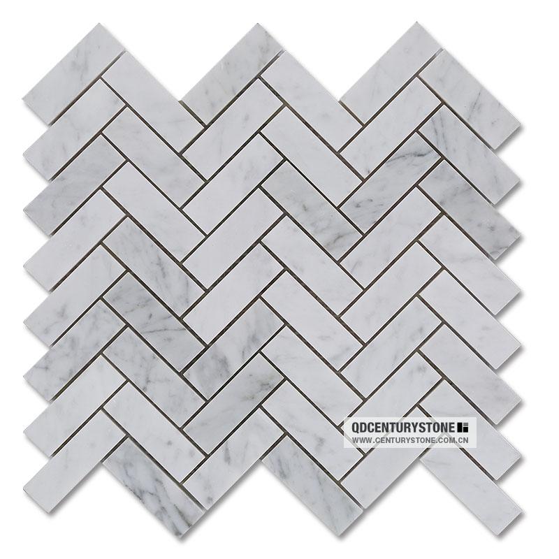 Light Wood Marble Herringbone Mosaic Flooring Tile Buy