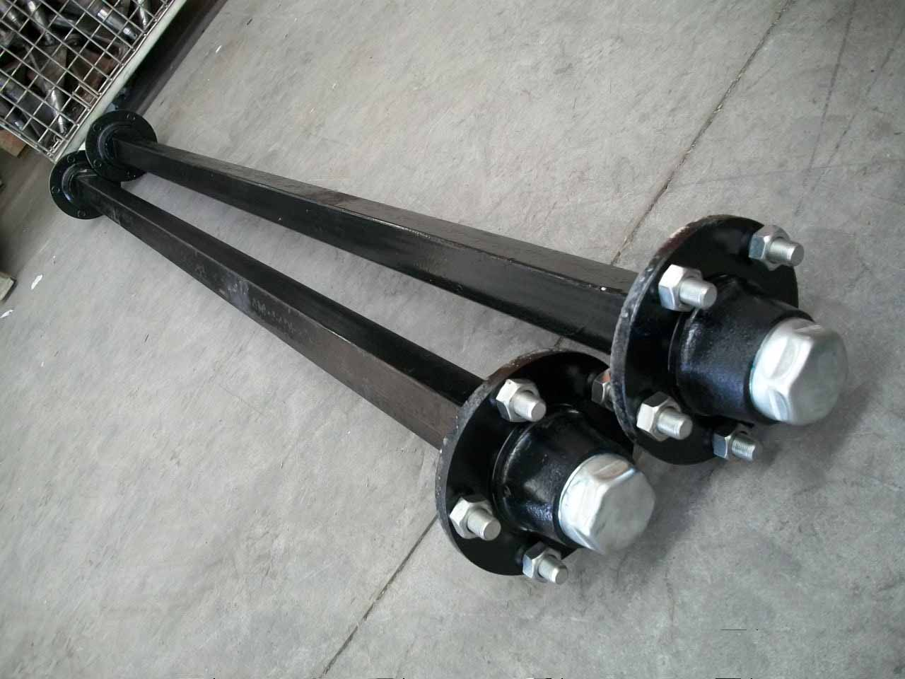 Wheel Trailer Axles : Ton agriculture trailer axle with brake buy