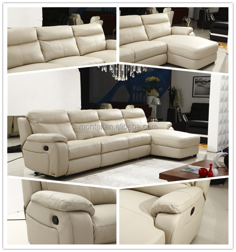 Gallery White Leather L Shaped Sofa: L Shaped Sofa With Recliner Luxury L Shaped Couch With