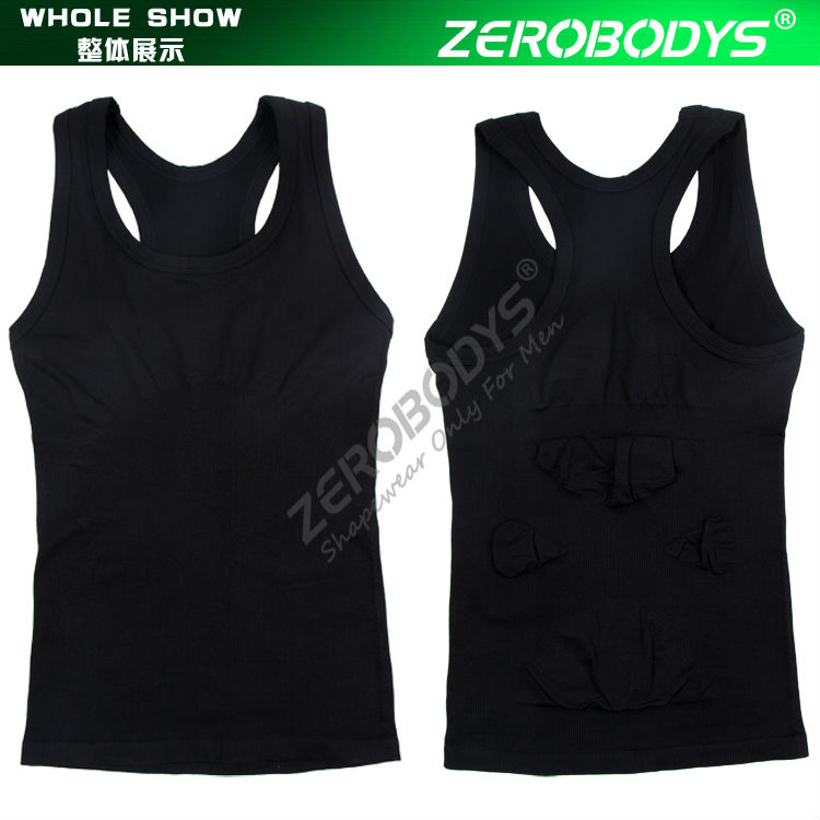 369 BK ZEROBODYS Comfortable Mens Body Shaper Quick Dry I-Shaped Vest CompressThe Zion Shirt Seamless Shapewear Body Shaper Male