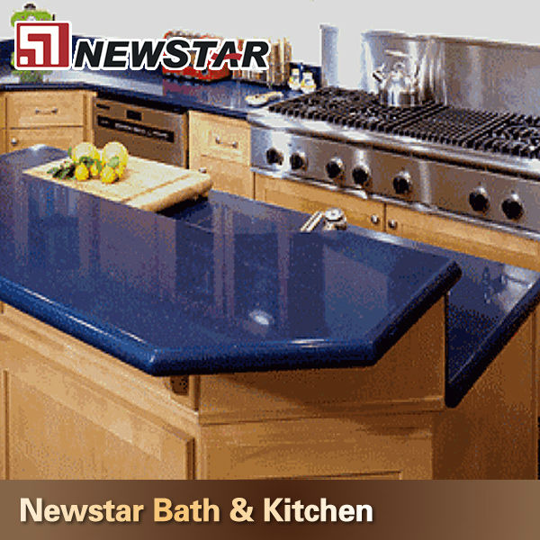 Blue Quartz Kitchen Countertops: Profession Manufature Kitchen Blue Quartz Countertops