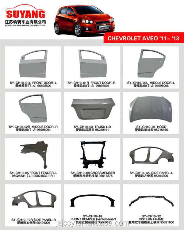 Manufacturer Supplied Hot Sale Replacement Car Door Auto Body Parts With Iso Ts16949 Certified