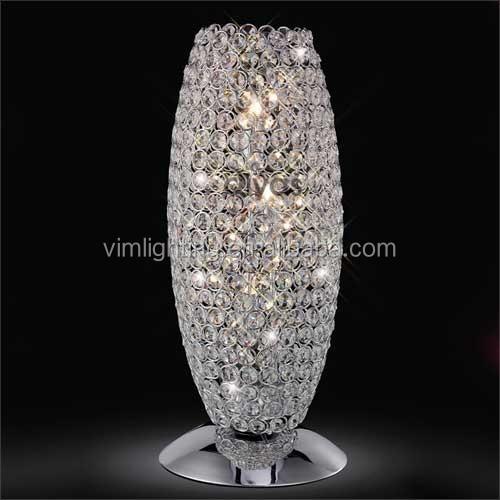 modern oval chrome crystal floor lamp