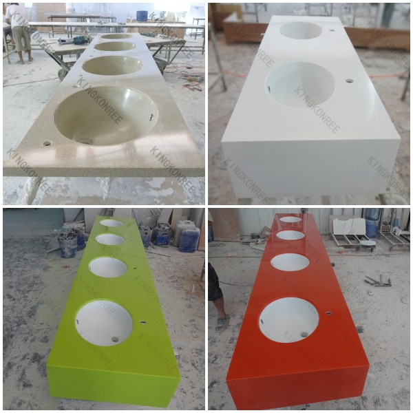 Prefabricated Bathroom Countertops: Home Prefab Cut To Size Bathroom Countertop