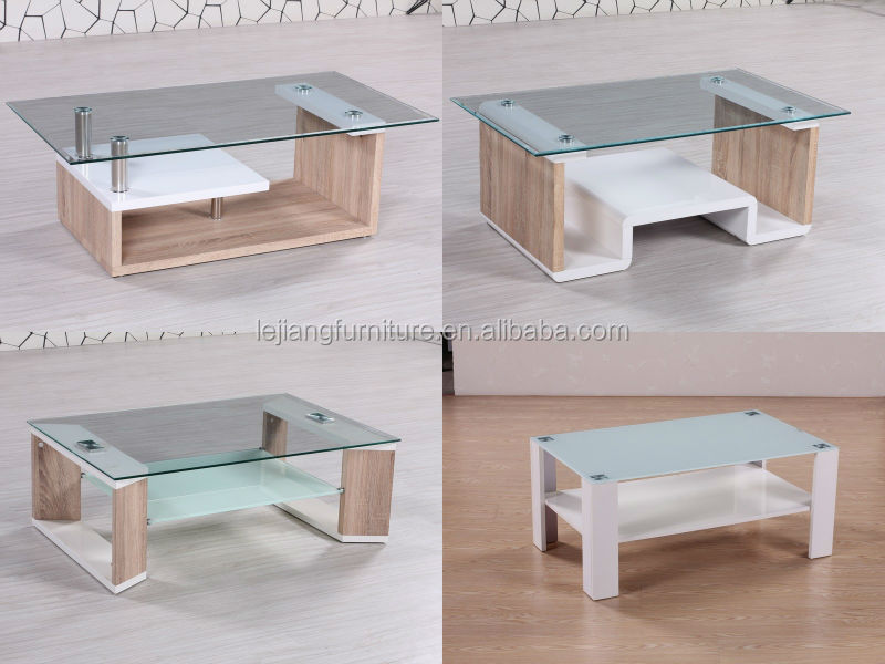 Living room furniture glass top center table design mdf for Best centre table designs