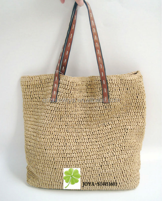 lady crochet bag raffia straw tote bag buy straw summer beach bags promotional beach bags. Black Bedroom Furniture Sets. Home Design Ideas