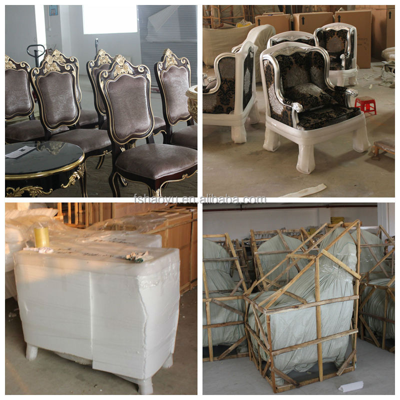 Luxury wooden restaurant furniture restaurant sofa set for Plastic baroque furniture
