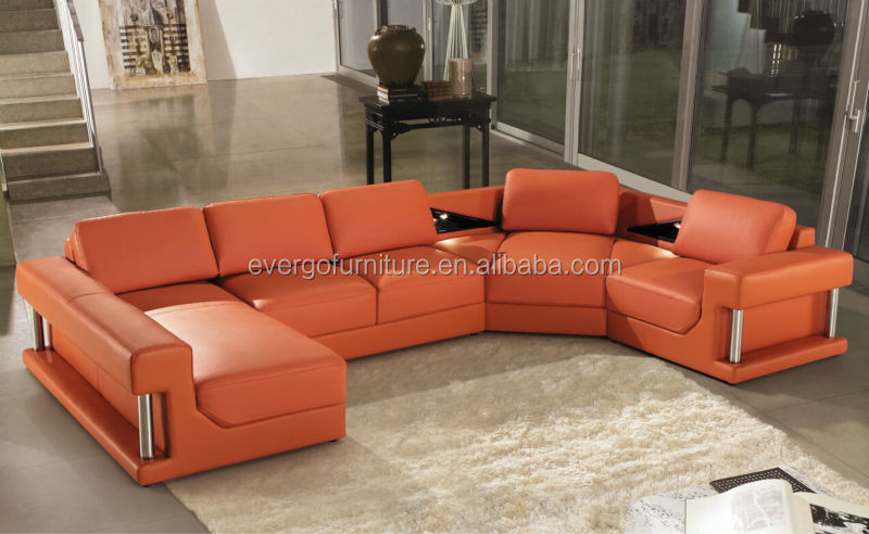 Modern Design Genuine Leather Sofa Set Living Room Furniture