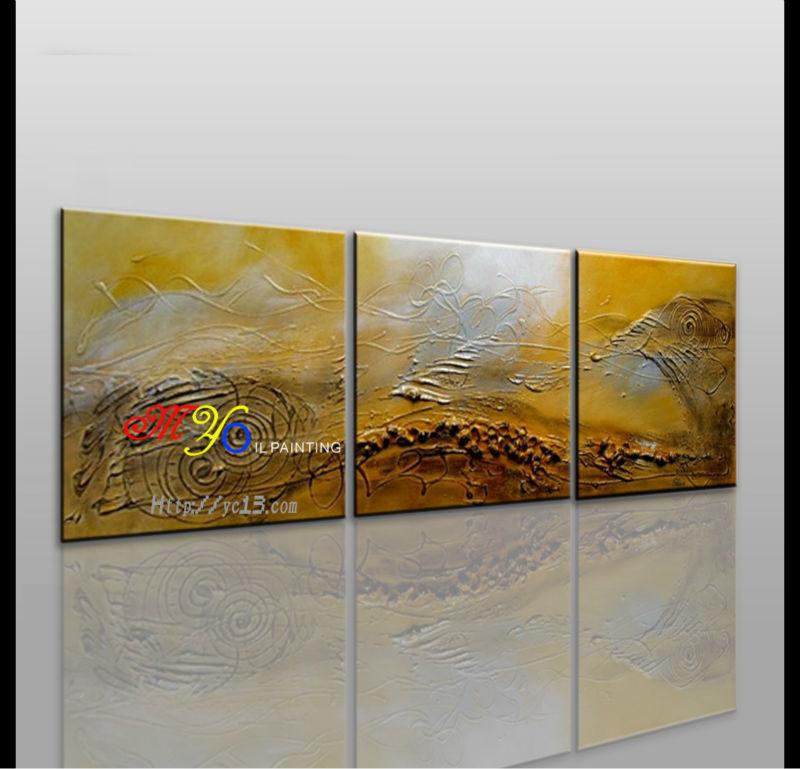 Cor dourada 3d abstrato pintura a leo sobre tela abstrato - Pinturas acrilicas modernas ...