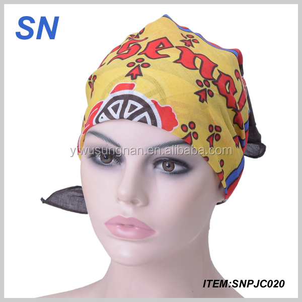 popular colorful head scarf for women