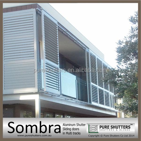 Exterior: Ss021006 Sombra Dual Track Sliding Aluminium Louver Window